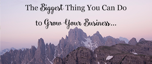 The Biggest Thing You Can Do To Grow Your Business