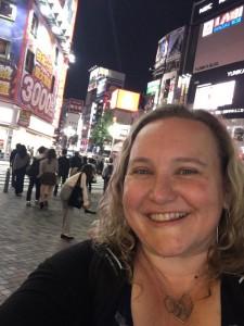 In the Shinjuku area of Tokyo